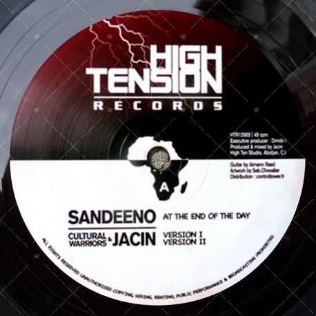 "HTR12002 High Tension Records - Sandeeno - At The End Of The Day (12"")"