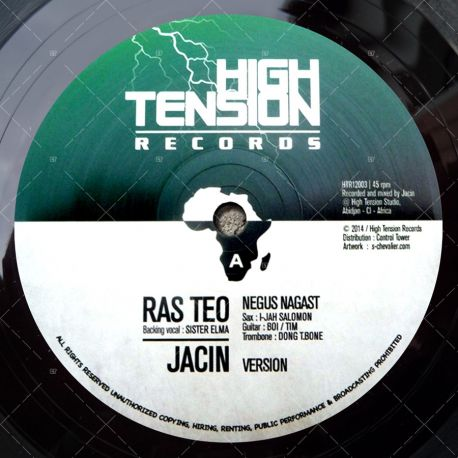 "HTR12003 High Tension Records - Ras Teo - Negus Nagast (12"")"