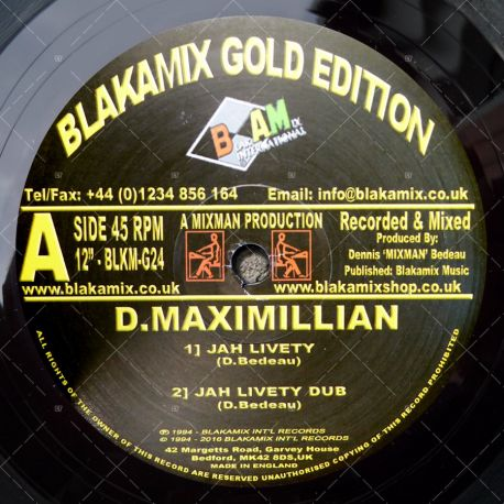 D. Maximillian - Jah Livety