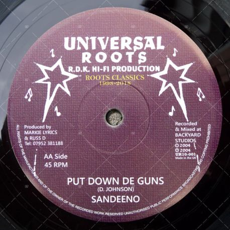 Sandeeno - Put Down De Guns