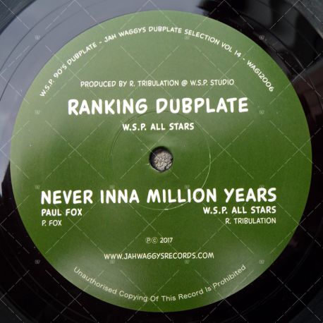W.S.P. All Stars - Ranking Dubplate